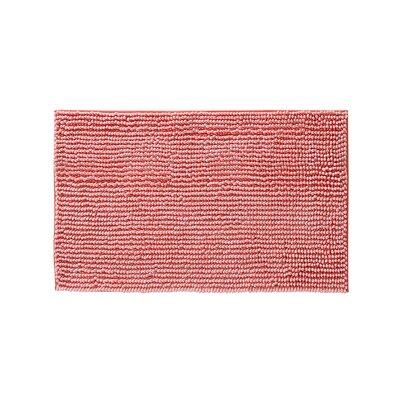 """Claretta Bath Rug Size: 17"""" W x 24"""" L, Color: Coral"""