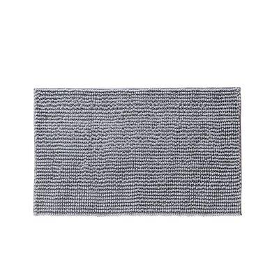 """Claretta Bath Rug Size: 23"""" W x 38"""" L, Color: Silver"""