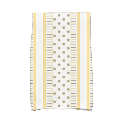Comb Hand Towel Color: Yellow/Gray