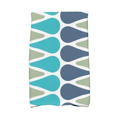 Picks Hand Towel Color: Green/Navy/Aqua