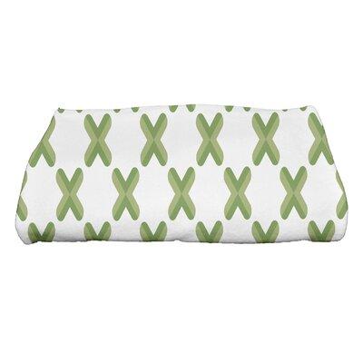 Criss Bath Towel Color: Green
