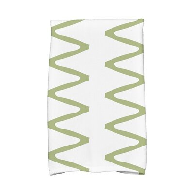 Zipped Hand Towel Color: Green