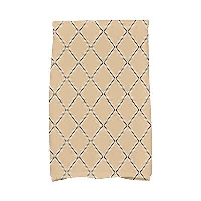 Diamond Dots Hand Towel Color: Taupe