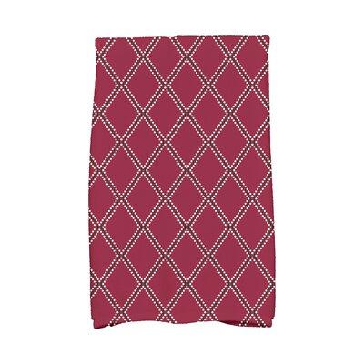 Diamond Dots Hand Towel Color: Cranberry