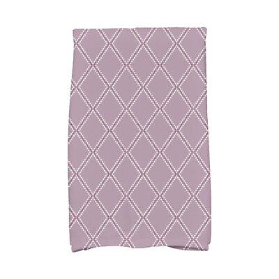 Diamond Dots Hand Towel Color: Lavender
