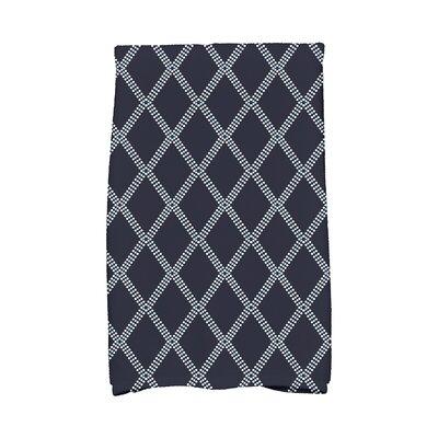 Diamond Dots Hand Towel Color: Blue