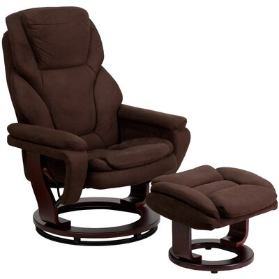 Hirano Microfiber Recliner and Ottoman