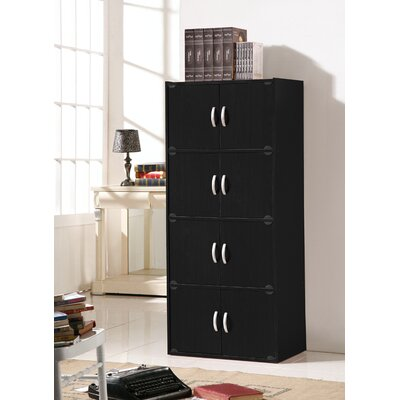 Julianne 8 Door Accent Cabinet Color: Black