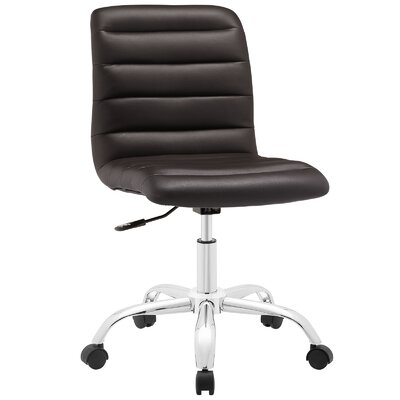 Petra Mid-Back Desk Chair Upholstery: Brown