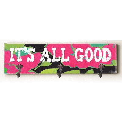 Cady It's All Good Solid Wood Wall Mounted Coat Rack
