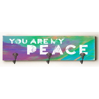Caldwell You are My Peace Solid Wood Wall Mounted Coat Rack