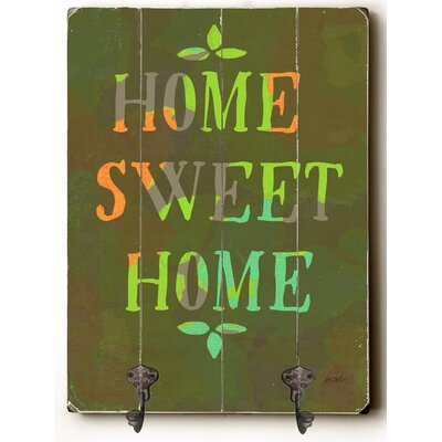 Candis Home Sweet Home Wood Wall Mounted Coat Rack