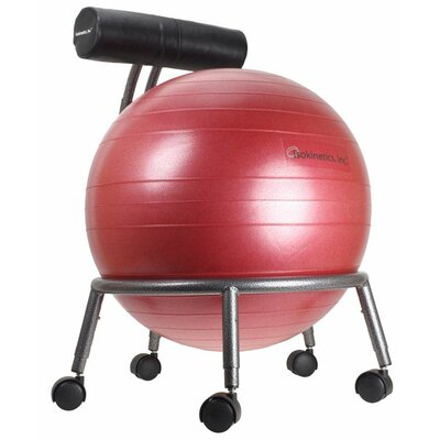 Lesly High-Back Exercise Ball Chair Upholstery: Red