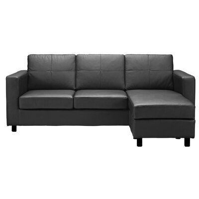 Ralph Reversible Sectional Upholstery: Black