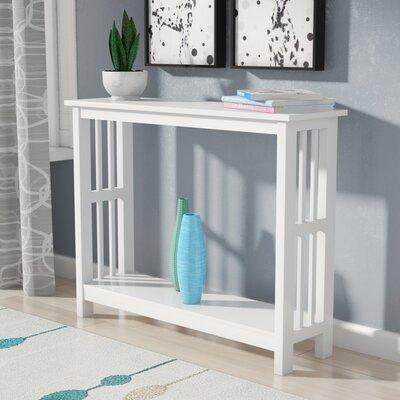 Cade Console Table Color: White