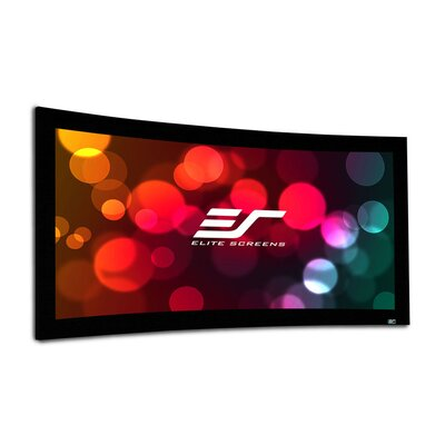 "Lunette Series Matte White Fixed Frame Projection Screen Viewing Area: 135"" Diagonal"