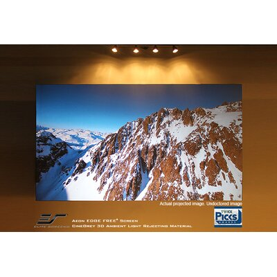 """Aeon Series Grey Fixed Frame Projection Screen Viewing Area: 45.1"""" H x 80.2"""" W"""
