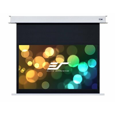 """Evanesce White Electric Projection Screen Viewing Area: 112"""" diagonal"""