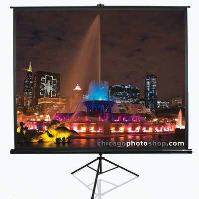 "Tripod Series White Portable Projection Screen Viewing Area: 113"" Diagonal 1:1"