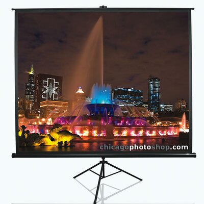 "Tripod Series White Portable Projection Screen Viewing Area: 120"" Diagonal 16:9"