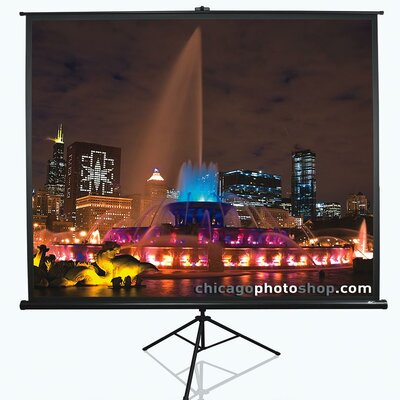 "Tripod Series White Portable Projection Screen Viewing Area: 120"" Diagonal 4:3"