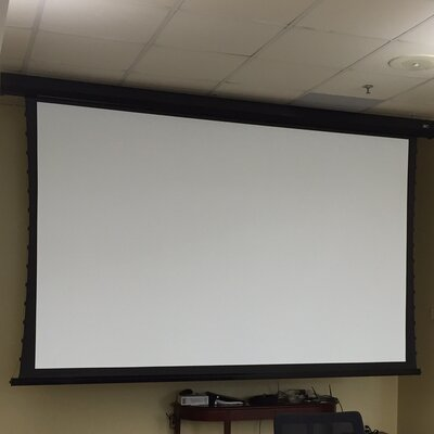 """CineTension2 White Electric Projection Screen Viewing Area: 120"""" diagonal"""