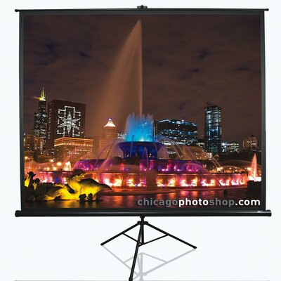 "Tripod Series White Portable Projection Screen Viewing Area: 60"" Diagonal 16:9"