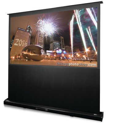 """Kestrel White Electric Projection Screen Viewing Area: 85"""" diagonal"""