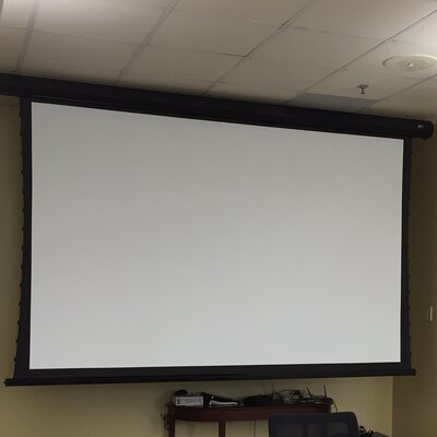 "CineTension2 White Electric Projection Screen Viewing Area: 128"" diagonal"