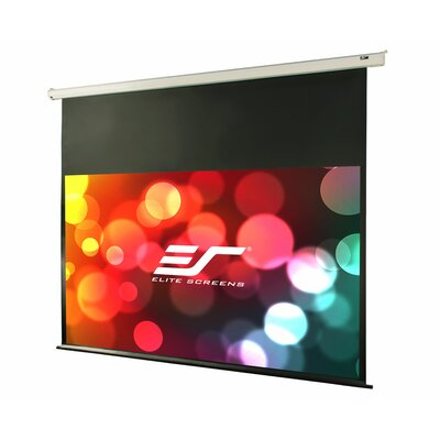 """VMAX2 Series White Electric Projection Screen Viewing Area: 106"""" diagonal, Finish: Black Aluminum Case"""