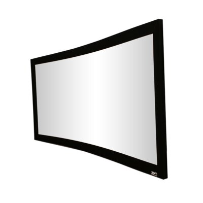 """Lunette Series White Fixed Frame Projection Screen Viewing Area: 92"""" diagonal"""