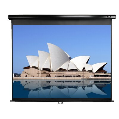"""Manual Series White Manual Projection Screen Viewing Area: 113"""" diagonal"""