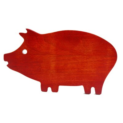 Hollydale Wood Pig Shape Cutting Board