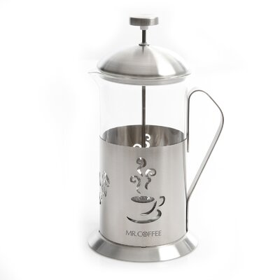 4-Cup Mr Coffee Gourmet Brew French Press Coffee Maker with Scoop