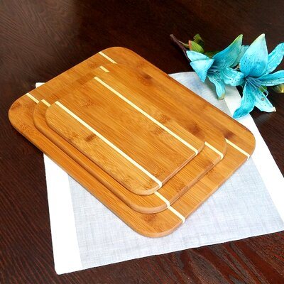 Dewport 3 Piece Bamboo Cutting Board Set
