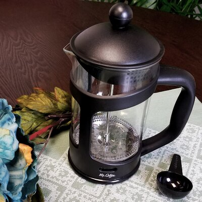 3.5-Cup Mr Coffee Brivio French Press Coffee Maker with Plastic Lid