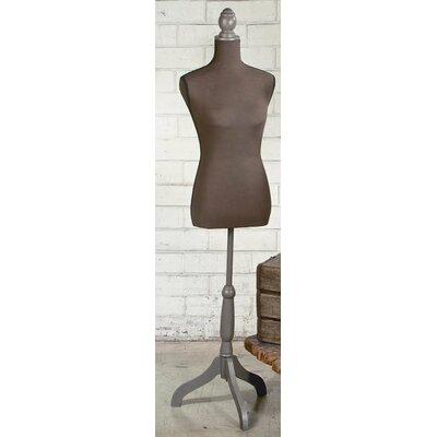 Floorstanding Adjustable Dress Form Color: Brown