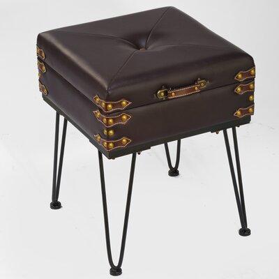 "Faux Leather Storage Bench Size: 10"" H x 21"" W x 16"" D"