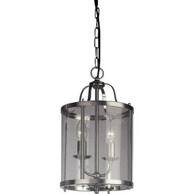 JH Miller Panelled Lantern 2 Light Foyer Pendant
