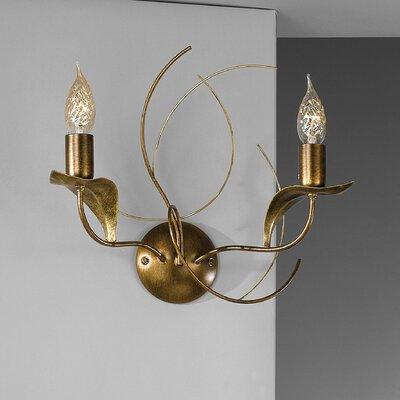 JH Miller Angelica Double 2 Light Candle Wall Light