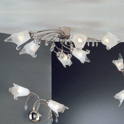 JH Miller Modena 6 Light Semi-Flush Ceiling Light