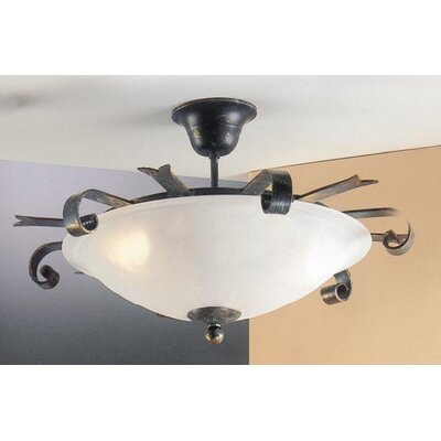 JH Miller Tamel 3 Light Semi Flush Light