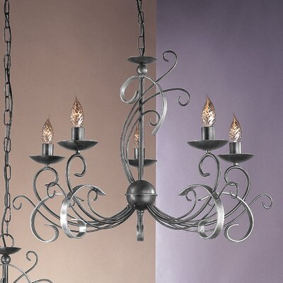 JH Miller York 5 Light Chandelier