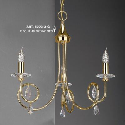 JH Miller Alejandra 3 Light Crystal chandelier