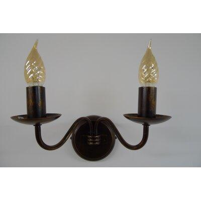 JH Miller Anna 2 Light Candle Wall Light