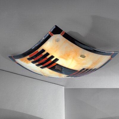 JH Miller Vetro 2 Light Flush Ceiling Light