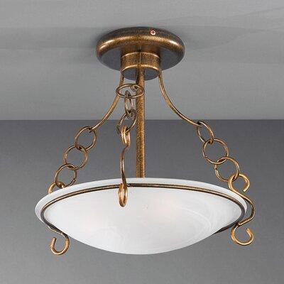 JH Miller Cantona 3 Light Semi-Flush Ceiling Light