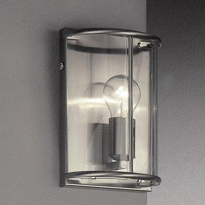 JH Miller Panelled Lantern 1 Light Flush Wall Light