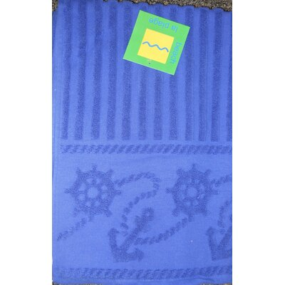 Anchor and Rope 100% Cotton Towel Set Color: Royal