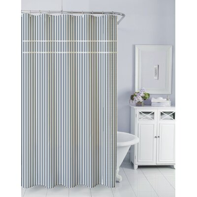 Sunny Day Cotton Shower Curtain Color: Navy
